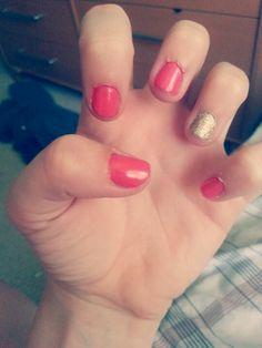 pink& gold sparkles!