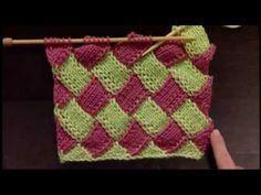 DIY Colorful Entrelac Knitted Baby Blanketsem