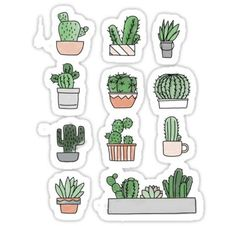 Cactus sticker - # sticker # cactus # cactus sticker - Cactus sticker – sticker The Effective Pictures We Offer You About Cactu - Cactus Stickers, Bubble Stickers, Cool Stickers, Journal Stickers, Planner Stickers, Homemade Stickers, Aesthetic Stickers, Sticker Design, Vsco