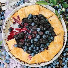 Fresh Blackberry Dessert Recipes: Double Berry-Almond Galette