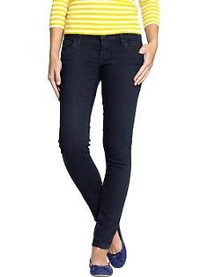 488751eb588 DARK WASH _ Womens The Rockstar Super Skinny Jeans - Get ready to rock!  These denim leggings have just the right amount of stretch to keep you  jamming in ...