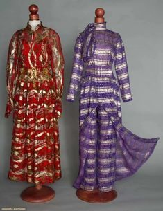 Two Designer Evening Dresses, France, 1968 & 1971, Augusta Auctions, March 30, 2011 - St. Pauls, Lot 187