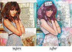 before and after paintover by tamara laporte