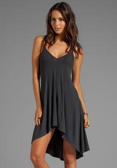 Trinity Soft Rib Nighty Dress in Musk