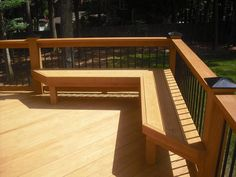 Comfortable Seating Deck Bench Plans Deck Railing Seating Ideas Try Designing Your Railing As A Built In Bench If I Lived Outside Deck Railings Decking And Bench Home Design Furniture Palm Coast Deck Bench Seating, Built In Seating, Built In Bench, Outdoor Seating, Outdoor Decor, Small Bench, Back Patio, Backyard Patio, Wood Patio
