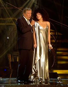 Lady Gaga poses up a storm next to legendary singer Tony Bennett