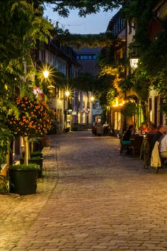 Freiburg im Breisgau (Baden-Württemberg) Germany I bet this location look… Wonderful Places, Great Places, Beautiful Places, Visit Germany, Germany Travel, Beautiful Streets, Beautiful World, The Places Youll Go, Places To See