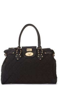Twister classic quilted off black bag