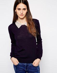Purple Sessun Tullio Knitted Sweater with Contrast Collar @ ASOS $205 LOVE IT!!!
