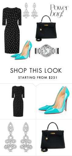 """""""Untitled #120"""" by acaguiar on Polyvore featuring L.K.Bennett, Christian Louboutin, Allurez, Hermès and Cartier"""