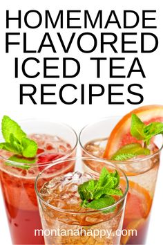 Homemade Flavored Iced Tea Recipes will help quench your thirst this summer with a variety of flavors to pick from. The Effective Pictures We Iced Tea Recipes, Drinks Alcohol Recipes, Coffee Recipes, Alcoholic Drinks, Beverages, Refreshing Drinks, Yummy Drinks, Crockpot Recipes, Cooking Recipes
