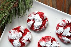 Introducing a festive choice for your holiday cookie platters: Red Velvet Gooey Butter Cookies ...
