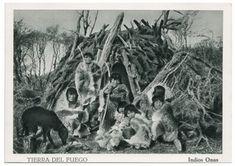 Fueguinos: Indios Ona. Edit. Alberto M. De Agostini