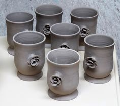 Tumbler set with flowers Alison Urquhart March 18, 2016