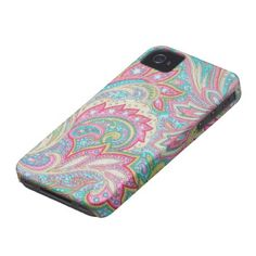 Pink Paisley Case-Mate iPhone 4 iPhone 4 Covers
