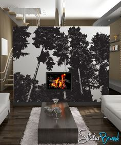 Vinyl Wall Decal Sticker Trees 857A by Stickerbrand on Etsy, $299.95