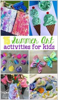 I need to pin these summer art activities for kids to keep my kids busy this summer. Love these ideas!