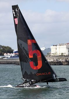 America's Cup World Series Oracle Racing No 5 in Plymouth