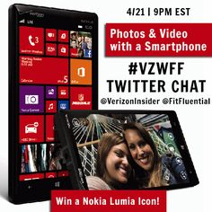 Ad. Join us tonight for a Twitter chat with Verizon Wireless-- about creating great photos and videos on your smartphone. #vzwff #fftech #fitfluential #client
