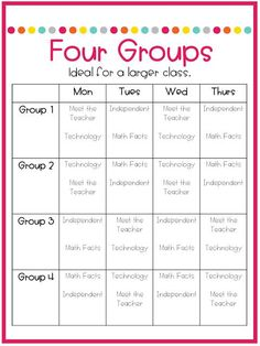 Part Schedules for Math Centers - Not So Wimpy Teacher - Mathe Ideen 2020 Math Rotations, Math Centers, Reading Centers, Numeracy, Daily 3 Math, Math Classroom, Math Math, Math Games, Classroom Ideas