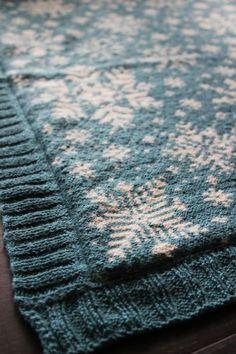 Baby blanket snowflakes by Pinneguri