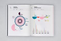 National Center for Visual Arts - Annual Report 2009 - The Graphicals Information Architecture, Information Design, Information Graphics, Graphic Design Studio, Graphic Design Typography, Web Graph, Annual Report Layout, Chart Design, Ppt Design
