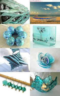 Handmade Turquoise Goodies by Lorraine on Etsy--Pinned with TreasuryPin.com