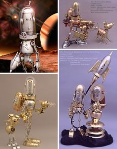 Gallery of Pseudo-Victorian, Steampunkesque & Retro Robot Art | WebUrbanist