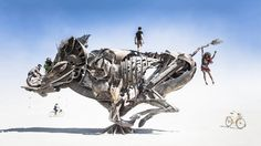 Burning Man, the rowdy annual art festival in the desert, returns to Black Rock City, Nevada this week, and with it comes a ton of incredible pop-up art and architecture. Follow along as we scope out the most impressive projects.