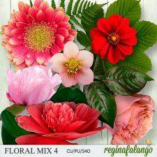 FLORAL MIX 4 #CUdigitals cudigitals.com cu commercial digital scrap #digiscrap scrapbook graphics