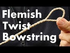 Best Bowstring for Beginners? Flemish Twist Single Loop for a Longbow. How to make a bowstring. Archery Tips, Archery Hunting, Bow Hunting, Archery Targets, Coyote Hunting, Survival Weapons, Survival Prepping, Survival Skills, Wilderness Survival