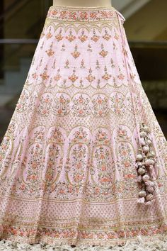 Fabric Color Lehenga Flare Works For more details, please click on below button.. Our All Products are fully customizable. Please contact us if you want to me any customization in this product. If you selected fully stitched product then after you place order you can fill your measurement form from here : MEASUREMENT F