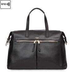 Audley Slim Leather Bag Black
