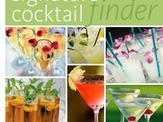 collage of signature cocktails