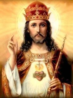 Sunday of Christ the King – Act of Consecration of the Human Race to the Sacred Heart of Jesus Image Du Christ, Image Jesus, Christ The King, King Jesus, Religious Images, Religious Art, Jesus E Maria, Jesus Christus, Photo Images