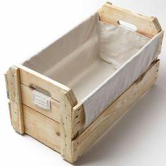 R$69,90 - Caixote de feira com capinha de algodao - casalingo