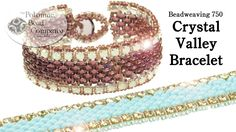 """This new video from The Potomac Bead Company teaches you how to make our """" Crystal Valley """" bracelet using Preciosa SS14.5 cup chain, SuperDuos, and seed bea..."""