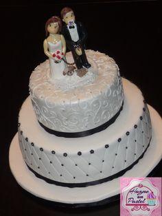 Torta de Bodas en blanco y negro...