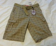 #men shorts SET of IRON JEANS men size 30 cargo shorts with matching canvas belt NWT withing our EBAY store at  http://stores.ebay.com/esquirestore