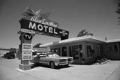 "Opened in 1941, the Blue Swallow Motel, in Tucumcari, New Mexico, is a classic motel of the past frequented by travelers along famous Route 66 during the 1950s.  Restored to its heyday decor of the mid-20th century, this ""blast from the past,"" and true Route 66 lodging, is still in operation, and you can book a room today: http://blueswallowmotel.com/"