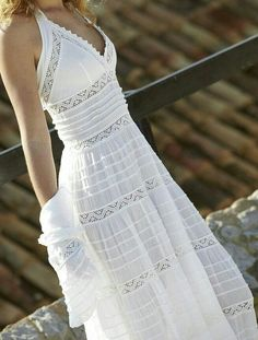 Simple Summer to Spring Outfits to Try in 2019 – Prettyinso Boho Summer Outfits, Long Summer Dresses, Boho Outfits, Outfit Summer, Crochet Skirt Outfit, Dress Skirt, Dress Lace, White Fashion, Boho Fashion