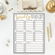 Weekly To Do List Instant Printable by Printedonyourheart on Etsy