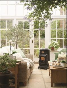 Use your conservatory all year round Outdoor Spaces, Outdoor Living, Outdoor Decor, Gazebo, Conservatory Design, Sunroom Decorating, Decorating Ideas, Decor Ideas, New York Loft