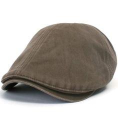 4095663b6877a ililily Washed Cotton Flat Cap Cabbie Hat Gatsby Ivy Irish Hunting Newsboy  Stretch at Amazon Men s Clothing store