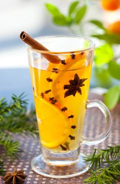 Photo about Orange punch with fruit slices and spices.Hot drink for winter and Christmas. Image of holiday, mulled, tasty - 16608453 Yummy Drinks, Healthy Drinks, Mushroom Tea, Sugar Free Desserts, Herbal Tea, Cocktail Drinks, Herbalism, Smoothie, Punk