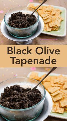 Black Olive Tapenade by Life Currents is an easy to make appetizer that tastes terrific! Easy To Make Appetizers, Appetizers For Party, Appetizer Recipes, Chutneys, Dips, Olive Recipes, Black Food, Appetisers, Diy Food