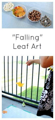 """Falling Leaf Art~Open-ended art for toddlers and preschoolers.A simple preschool fall songs inspired us to create some """"falling"""" leaf art. We also incorporated a little bit of science along the way. Autumn Activities For Kids, Fall Preschool, Toddler Preschool, Preschool Activities, Preschool Kindergarten, Montessori, Toddler Art, Autumn Theme, Autumn Art"""