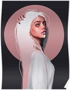Millions of unique designs by independent artists. Find your thing.You can find illustration art girl and more on our website.Millions of unique des. Digital Art Girl, Digital Portrait, Portrait Art, Art Sketches, Art Drawings, Girly Drawings, Arte Obscura, Ipad Art, Anime Art Girl