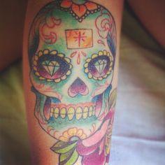 My candy skull tat :)
