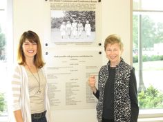 Dedication of Deans' Commons and Conference Room, Krach Leadership Center, Purdue University, September 27, 2014. Author Angie Klink and Purdue Dean of Student Emerita Betty M. Nelson.